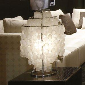 VERPAN VERPAN Fun 2TM – perleťová stolná lampa, chróm
