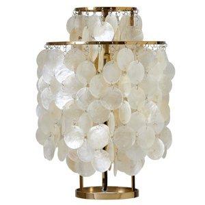 VERPAN VERPAN Fun 2TM – perleťová stolná lampa, mosadz