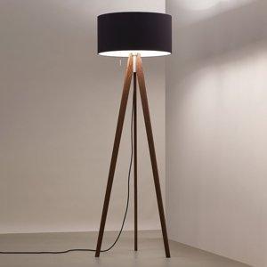 WALDMANN Stojaca LED lampa Vivaa Free Wood