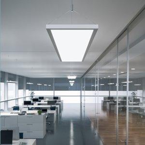 WALDMANN Závesné LED IDOO do kancelárie 49W, biele