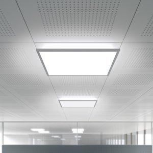 WALDMANN Zapustené LED IDOO.fit 62,3x62,3cm IFE5000/VTL/D
