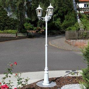 Lindby 3-plameňové biele stĺpové svietidlo Lieva