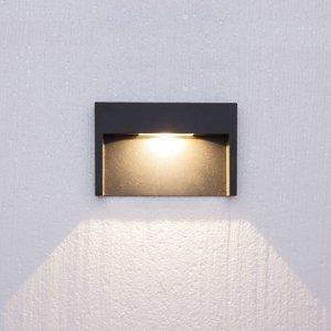 Lucande 3W zapustené nástenné LED svietidlo Mitja IP66