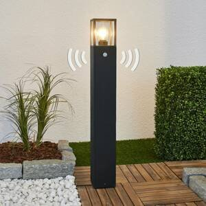 Lucande Chodníkové svietidlo Klemens detektor pohybu 90 cm