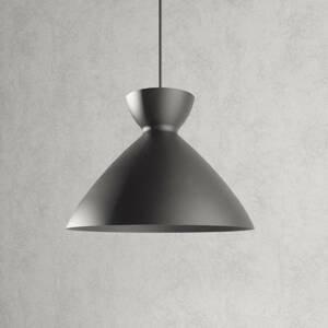 Lampenwelt.com Závesná lampa Sakura v tmavosivej 30cm