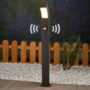Lucande Chodníkové svietidlo detektor pohybu Lennik s LED