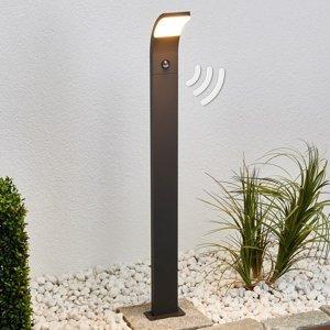 Lucande Chodníkové LED svietidlo Timm detektor pohybu 100
