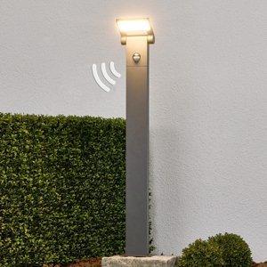 Lucande Stĺpikové LED svietidlo Marius so snímačom 80 cm
