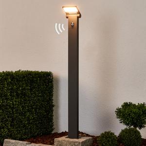 Lucande Stĺpikové LED svietidlo Marius so snímačom 100 cm