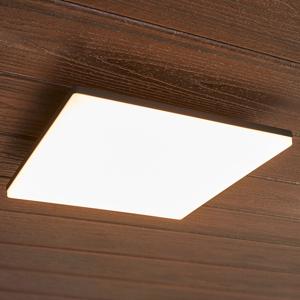 Lucande Štvorcové stropné LED svietidlo Henni vonkajšie