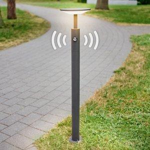 Lucande Chodníkové LED svietidlo Fenia detektor pohybu 100
