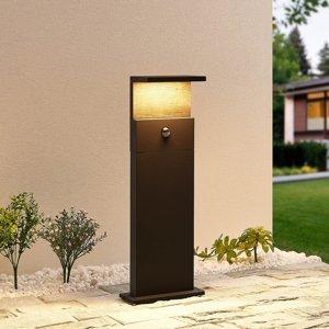 Lucande Lucande Lignus LED soklové svietidlo, snímač