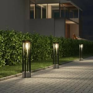 Lucande Lucande Overa chodníkové svietidlo, okrúhle, E27