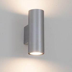 Lampenwelt.com Strieborné nástenné LED svietidlo Kabir 2-pl
