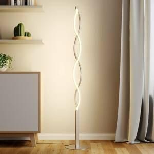 Lindby Vlnitá stojaca LED lampa Auron