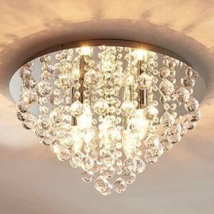 Lindby Jagavé stropné svietidlo Annica chrómová platňa