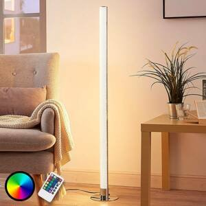 Lindby Podlhovastá RGB stojaca LED lampa Hadis