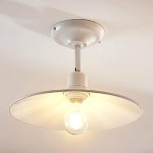 Lampenwelt.com Biele stropné svietidlo Phinea vzhľad vintage