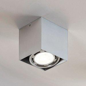Lampenwelt.com LED Downlight Rosalie 1-pl. hranaté hliník