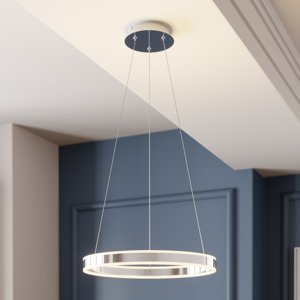 Lucande Závesné LED svietidlo Lyani chróm stmievateľné 50