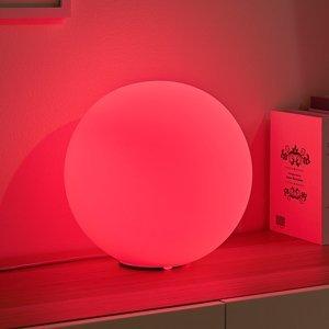 Lindby Lindby Smart RGB LED stolová lampa Rhona, guľa