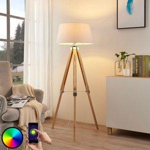 Lindby Lindby Smart LED stojaca lampa Alessa, app, RGB