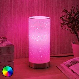 Lindby Lindby Smart LED stolová lampa Alwine s bodkami