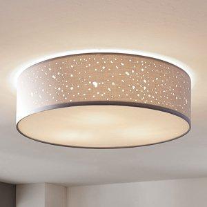 Lindby Stropná lampa Umma, priamo na strop, sivá