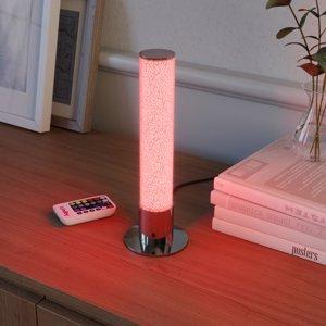 Lindby LED stolová lampa Fria, valec, RGB, ovládač