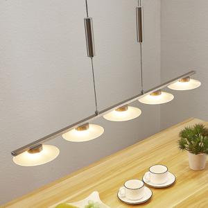 Lampenwelt.com LED pásová závesná lampa Elisea, päť svetiel