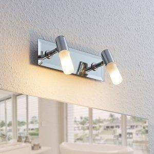 Lindby Kúpeľňový nástenný reflektor Zela 2 svetlá, chróm