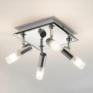 Lindby Kúpeľňová stropná lampa Zela, 4 svetlá, 32 x 32 cm