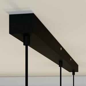 Lindby Lindby Sofian závesná lampa, 3-pl., dymová sivá