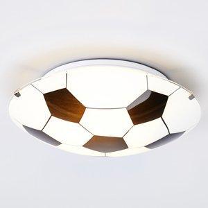 Lindby Čierno-biele stropné svietidlo Fußball