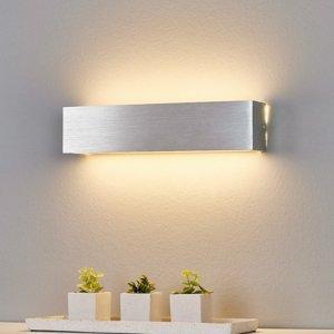 Lindby Nástenné LED svietidlo Ranik hliníková farba