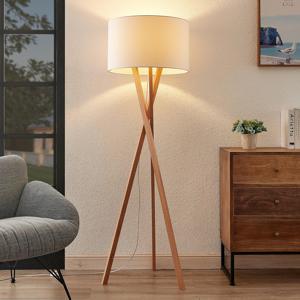 Lucande Lucande Auriane tripod stojaca lampa látka biela