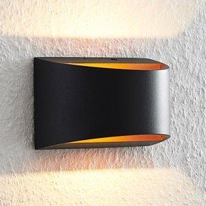 Arcchio Arcchio Jasina nástenná LED, polguľatá, čierna