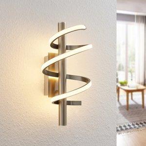 Lucande Lucande Milora LED stropná lampa 27 cm, nikel