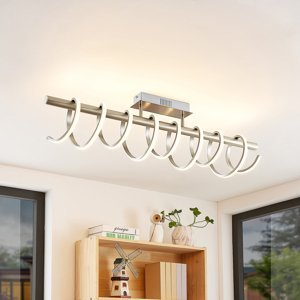 Lucande Lucande Milora LED stropná lampa 100 cm, nikel