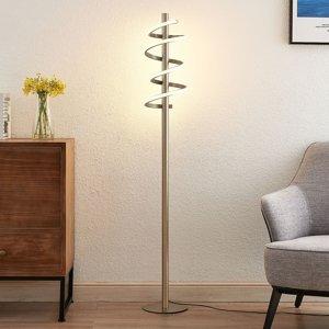Lucande Lucande Milora LED stojaca lampa, nikel satinovaný