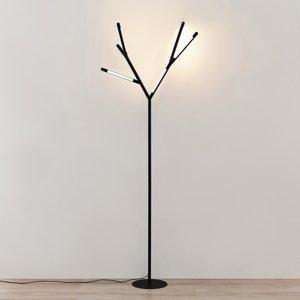 Lucande Lucande Cuerno LED stojaca lampa v čierno-bielej
