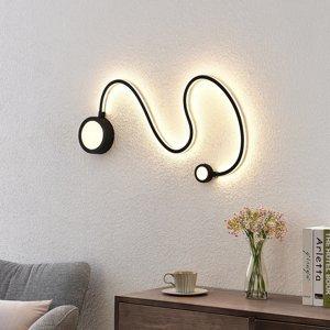 Lindby Lindby Rion nástenné LED svietidlo čierne