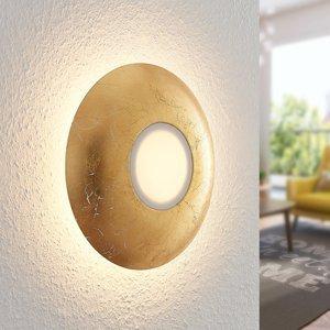 Lindby Lindby Ilma LED nástenná lampa, mliečne sklo zlato