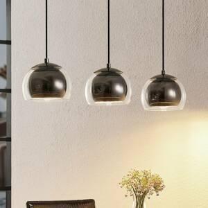 Lindby Lindby Daymien závesná lampa, 3-plameňová, čierna