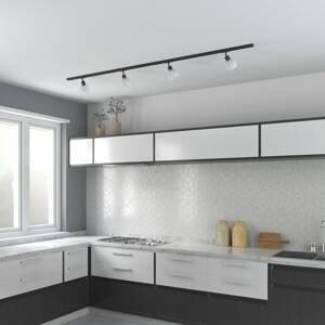 Lindby ELC Jeanit 3-fázová LED koľajnica, 3-pl. čierna