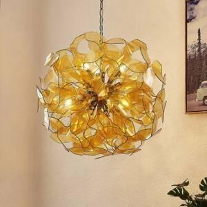 Lindby Lindby Moscalina závesná lampa, jantárová