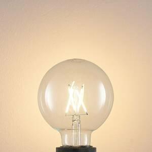 Arcchio LED žiarovka E27 4W 2700K globe, filament, číra