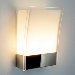 Lindby Moderné nástenné svietidlo Malthe zo skla a kovu