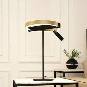 Lucande Lucande Matwei stolná lampa LED, kruhová, mosadz