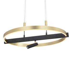 Lucande Lucande Matwei LED závesné svetlo, kruhové, mosadz